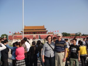 Picture with Mao at Tiananmen Square