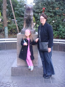 Hachiko Statue at Shibuya Station- Miss Maddie and I