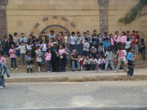 Egyptian School Children in Coptic Cairo