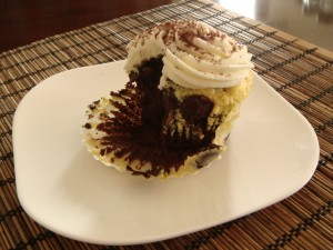 Black Bottom Cupcakes 005