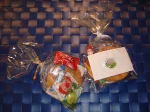 Goodie Bags- rice crackers and sweets