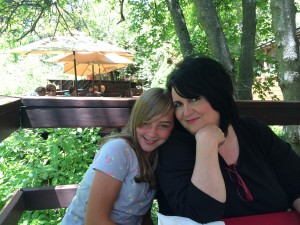 Dining on the river at The Oaks-Susan and Presley